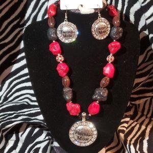 Jewelry - Football necklace & earrings